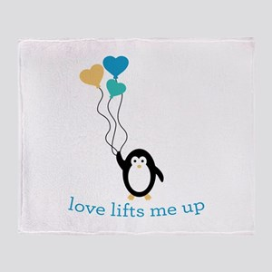 Love Lifts Me Throw Blanket