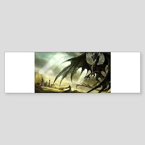 Great Black Dragon Bumper Sticker