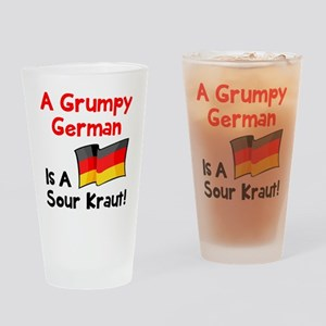 Grumpy German Drinking Glass