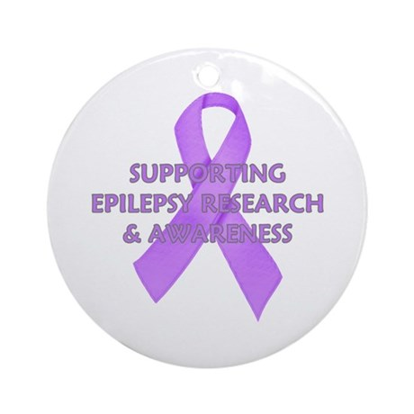 ...Epilepsy Research... Ornament (Round)