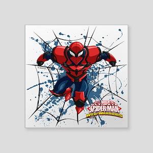 "Spyder Knight Web Square Sticker 3"" x 3"""