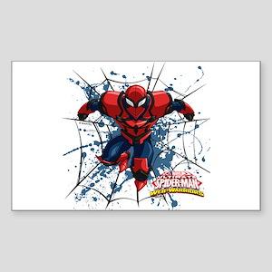 Spyder Knight Web Sticker (Rectangle)