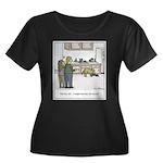 Easy Dog Women's Plus Size Scoop Neck Dark T-Shirt