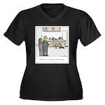 Easy Dog Tra Women's Plus Size V-Neck Dark T-Shirt