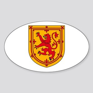 Scotland Coat of Arms Oval Sticker