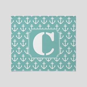 monogram c blankets cafepress