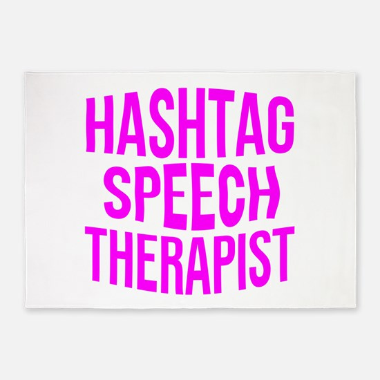 Hashtag Speech Therapist 5'x7'Area Rug