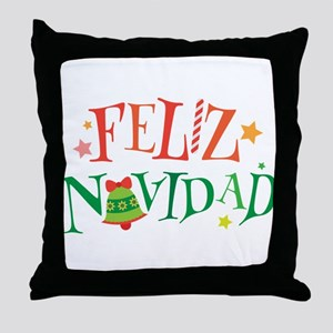 Feliz Navidad Christmas Throw Pillow