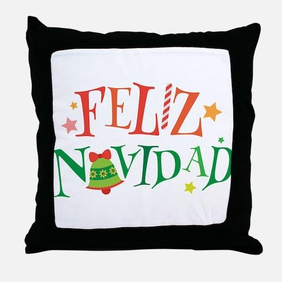 Feliz Navidad Christmas Throw Pillow