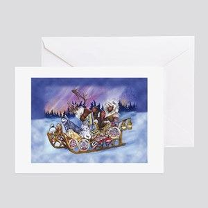 The Inuit Sled Greeting Cards