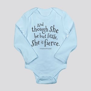 Shakespeare Though She Be But Little Body Suit