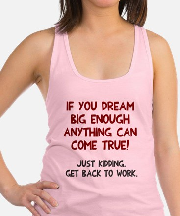 Get back to work Racerback Tank Top