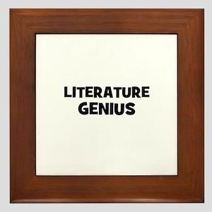 Literature Genius Framed Tile