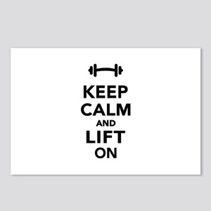Keep calm and lift on wei Postcards (Package of 8)