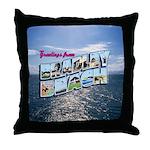Greetings from Bradley Beach Throw Pillow