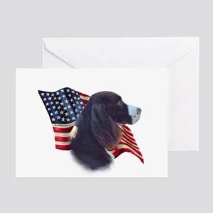 English Springer Flag Greeting Cards (Pk of 10