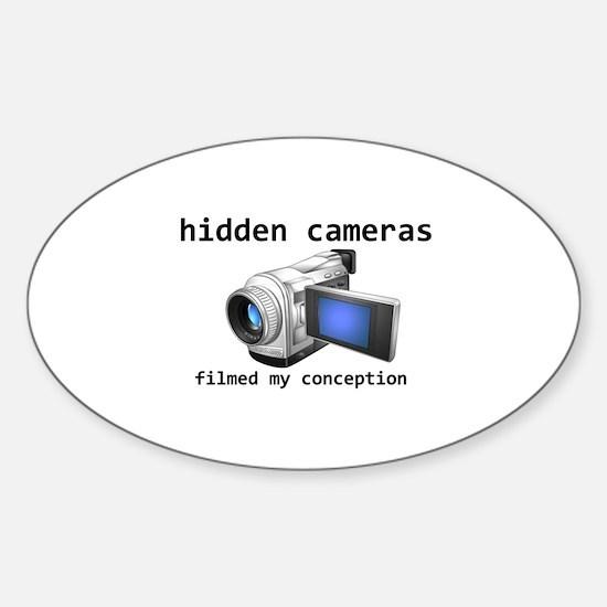 hidden cams Oval Decal