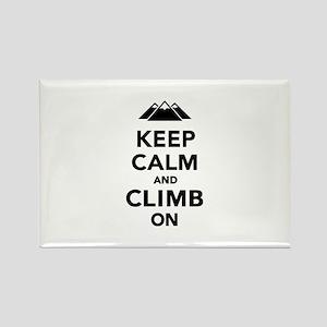 Keep calm climb on mountains Rectangle Magnet