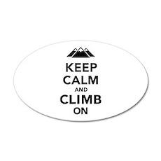 Keep calm climb on mountains Wall Decal