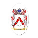 Gilabert Oval Car Magnet