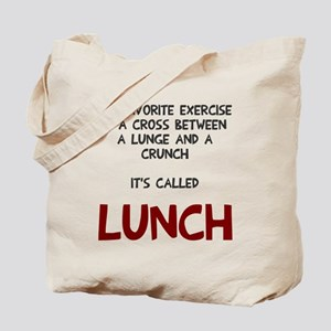 Lunge and Crunch = Lunch Tote Bag