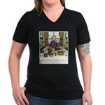 Spirit of Thanksgiving Women's V-Neck Dark T-Shirt