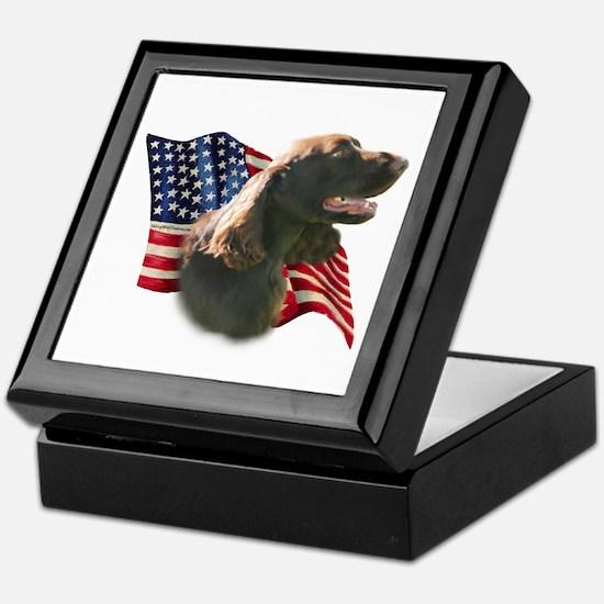 Field Spaniel Flag Keepsake Box
