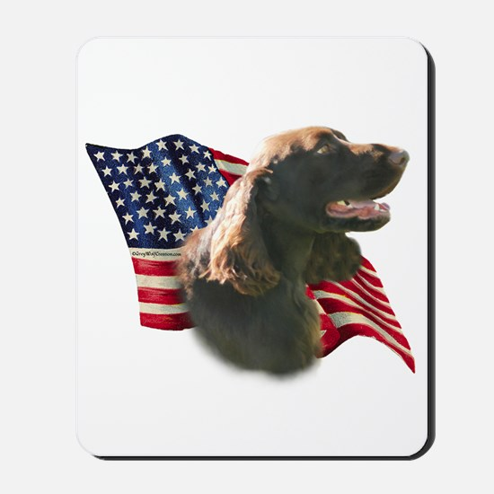 Field Spaniel Flag Mousepad