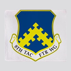 8th Tactical Fighter Wing Throw Blanket