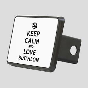 Keep calm and love Biathlo Rectangular Hitch Cover