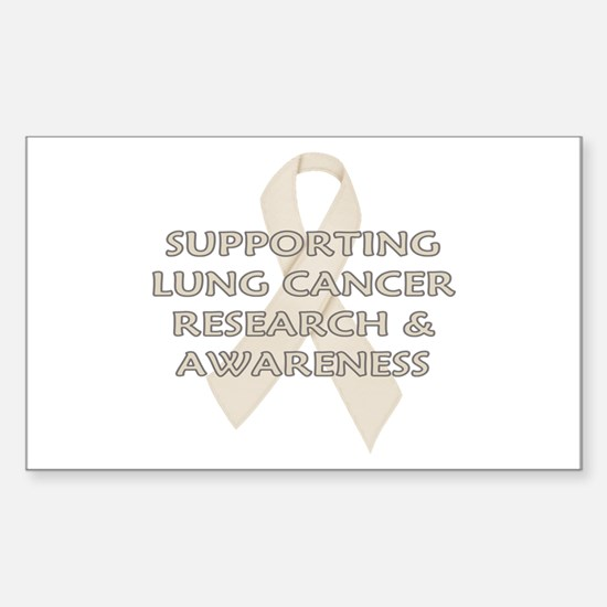 ...Lung Cancer... Rectangle Decal