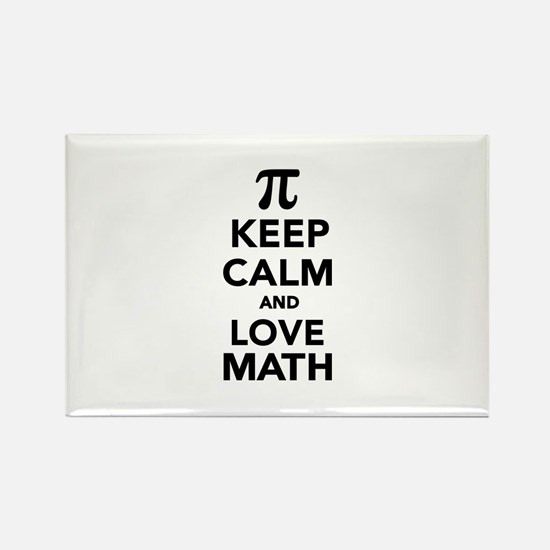 Keep calm and love Math Pi Rectangle Magnet