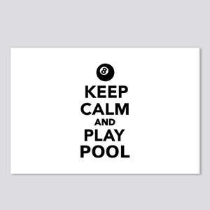 Keep calm and play pool b Postcards (Package of 8)