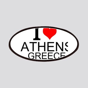 I Love Athens Greece Patches