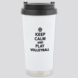 Keep calm and play Voll Stainless Steel Travel Mug