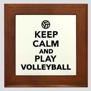 Keep calm and play Volleyball Framed Tile