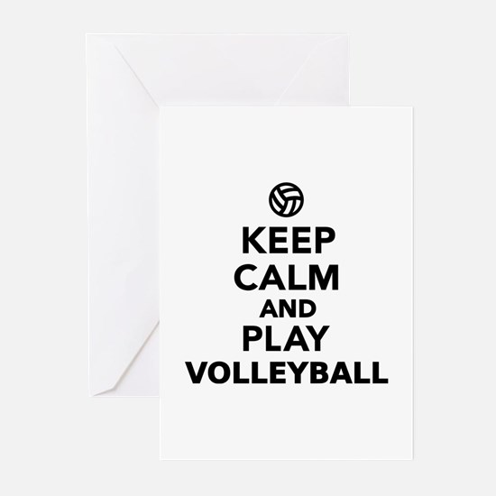 Keep calm and play Volle Greeting Cards (Pk of 10)