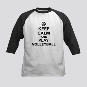 Keep calm and play Volleyball Kids Baseball Jersey
