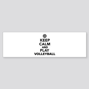 Keep calm and play Volleyball Sticker (Bumper)