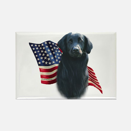 Flat-Coat Flag Rectangle Magnet