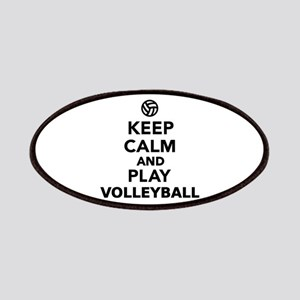 Keep calm and play Volleyball Patches
