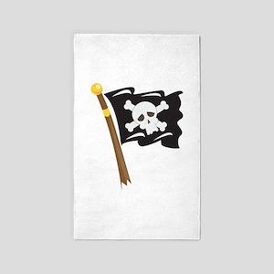 Pirate Flag 3'x5' Area Rug