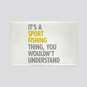 Sport Fishing Thing Rectangle Magnet