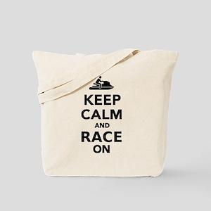 Keep calm and race on Jet Ski Tote Bag