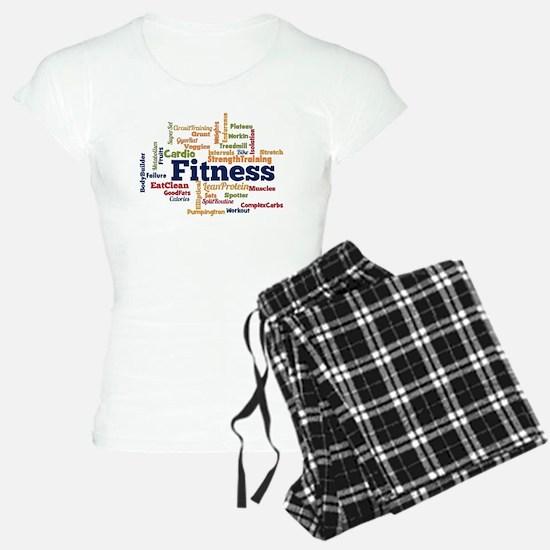 Fitness Word Cloud Pajamas