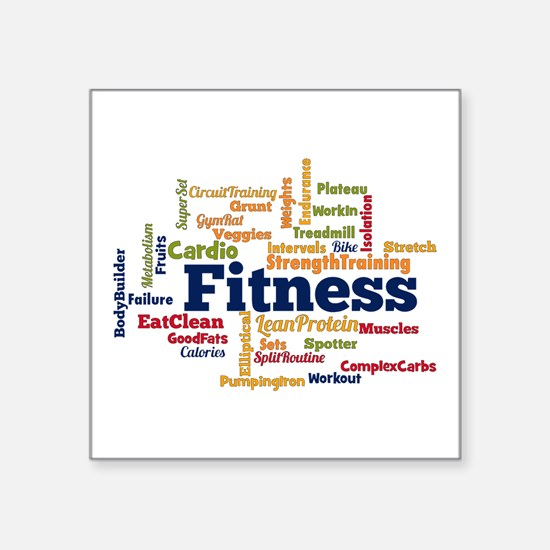 Fitness Word Cloud Sticker