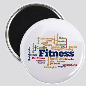 Fitness Word Cloud Magnets