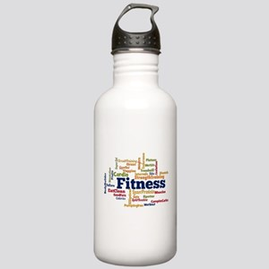 Fitness Word Cloud Water Bottle
