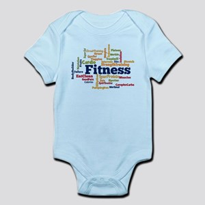 Fitness Word Cloud Body Suit