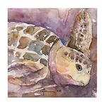 Sea Turtle 3 Tile Coaster